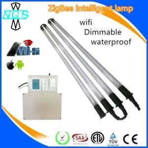Controlador de LED WiFi tubo impermeável a intensidade de iluminação por Telemóvel