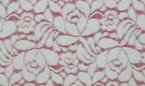 Tela do laço do teste padrão de flor com alta qualidade, material do vestido, tela suíça LC10003