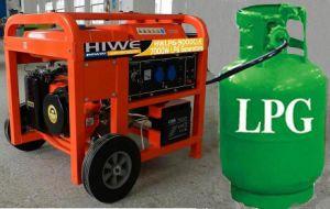 LPG Gasoline Generator Liquid Petrol Gasoline Generator 6kw 6000W 6kVA EPA & Ce & ISO & Carb Certificate Highquality de 2015 V.S. Military Use van LPG Generator