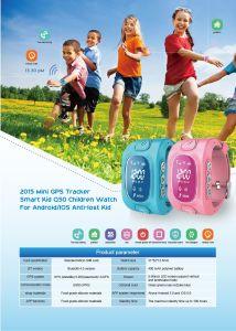 Crianças Smart relógios com lbs, Rastreador GPS + Monitor Remoto, empurrador eletrônico para Kid Wt50-Ez