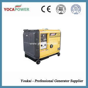 Arranque eléctrico arrefecido a ar 5 kw conjunto gerador diesel silenciosa