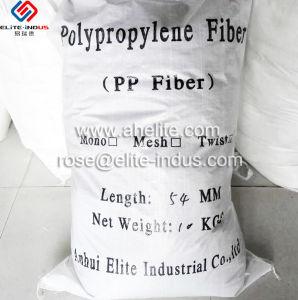 verdraaide Vezel van het Polypropyleen van het Polymeer van 54mm de Concrete pp