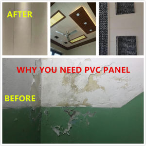 Un film plastifié panneau mural en plastique PVC les dalles de plafond