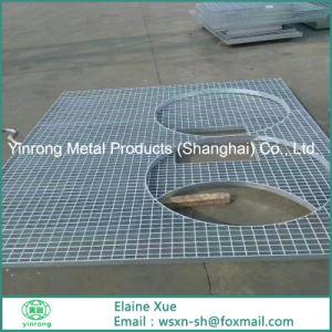 Plataforma de rejilla de acero en forma