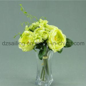 大きく装飾的で高貴なローズの花束の人工花(SF12508)