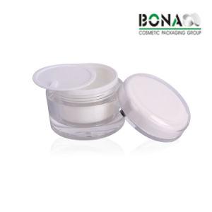 BPA geben schwarzes doppel-wandiges acrylsauerglas für verpackenhaut-Sorgfalt-Produkt-Luxuxplastikgläser frei