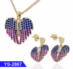 Commerce de gros de bijoux de mode de nouvelle conception 925 Sterling Silver ou bague en laiton Earring CZ bijoux Set de mariage pour les femmes