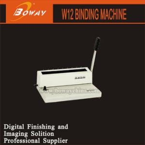 Nota de cable Manual de la máquina de encuadernación W12