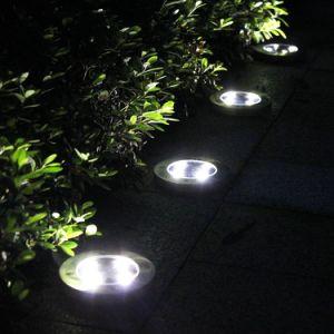 Edelstahl-wasserdichter im Freiengarten-Tiefbaulampe 4 5 6 8 10 12 begrabenes LED Tiefbausolarbodensolarlicht