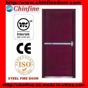 Portes d'incendie en acier avec barre de poussée (CF-F006)