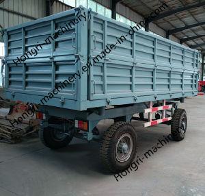 De linker en Juiste Hydraulische Aanhangwagen van het Landbouwbedrijf van de Stortplaats 4t met de Beste Kwaliteit