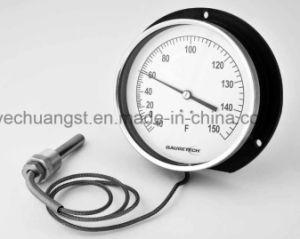 Doppio PT100 termometro a distanza della manopola dell'acciaio inossidabile 100mm con la flangia