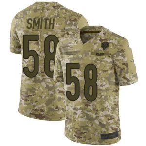 2018 Camo салют для обслуживания Джерси несет футболках Nikeid 58 Roquan Смит