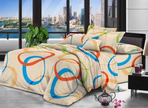 Кровати из полиэфирного волокна ткани листа полированного постельные принадлежности из дома Bedsheets ткань