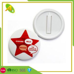 BSCI Fashion bouton rouge métalliques personnalisées Fille de l'étain d'un insigne comme cadeau de promotion (016)