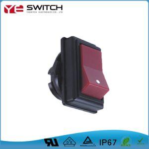 電子正方形2の位置のロッカースイッチ