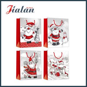 반짝임 최신 각인 싼 로고에 의하여 인쇄되는 크리스마스 훈장 종이 봉지