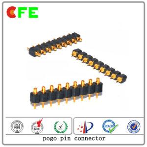 9pinは列のPogoのバネ付きの接触ピンを選抜する
