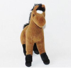 Giocattolo animale della peluche del cavallo sveglio