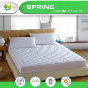 Todos los tamaños de cama blanca hipoalergénica protector de colchón acolchado pad de protección