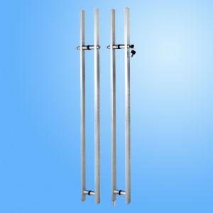 Aço inoxidável chuveiro de vidro corrediço de porta (FS-601)