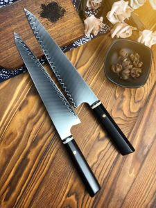 """Cuchillo Japonés - Pro 8"""" Sharp Chef Cuchillo - Acero inoxidable al carbono cuchillo de cocina"""
