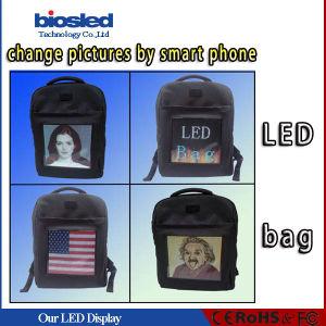 La bolsa electrónica de los estudiantes, Mochila de LED para publicidad, bolsas de realismo