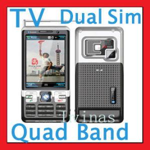 TV de tela de toque duplo SIM Cartão 256 m (C702)