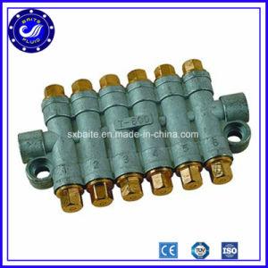 El Detective de latón de neumático de aire ajustable de volumen de aceite de 6 vías Distribuidores