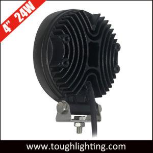 À prova de 12V 4 24W Epistar LED redondos Luzes de Trabalho para Tratores