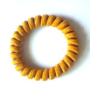 Het modieuze Koord Hairbands van de Telefoon met schittert en Behandelde Werf