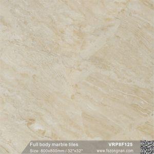 高品質完全なボディ大理石によって艶をかけられる床タイル(VRP8F105、800X800mm)