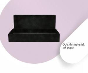Anneau de garniture boîte cadeau en bois Bijoux Emballage