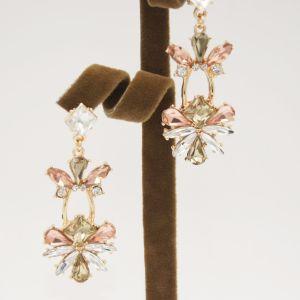 貴族3カラーK9ガラス&Rhinestoneの低下イヤリングの方法宝石類