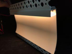 С учетом Indirecting Darklight Coving гипса LED анодированный штампованный алюминий алюминиевый профиль