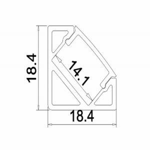Perfil de aluminio LED ultra delgado para la aplicación de las decoraciones de la luz de banda
