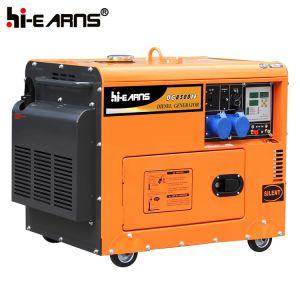 188faエンジンの無声ディーゼル発電機セット(DG7500SE)