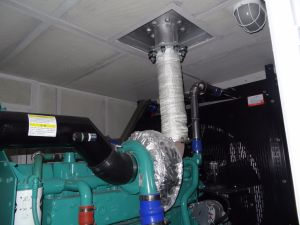 20gp 콘테이너 방음 닫집을%s 가진 산업 800kVA Cummins 발전기