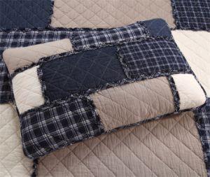 100%年の綿のブロックのPatchworkedのベッドカバーのホーム寝具の一定の洗濯できる