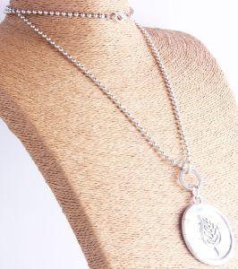 Met de hand gemaakt van de Verklaring Boho van de manier Grote Antieke Zilveren Gehamerd om de Halsband van de Tegenhanger van de Boom