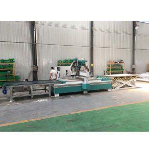 Ferramenta automática de madeira mudando portas Router CNC