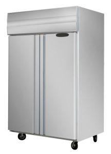 Strumentazione verticale della cucina del frigorifero, congelatore commerciale della cucina dell'acciaio inossidabile
