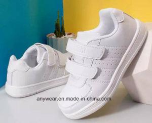 Los niños correr Deportes zapatillas zapatos niños escolares Blanco (513)
