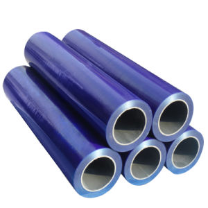 Commerce de gros Black-White PE de protection bleu transparent/films de protection pour les profils en aluminium/feuilles
