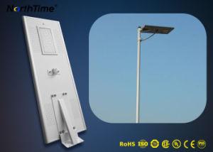 Batería de litio de alta capacidad incorporado todos en una calle la luz solar la energía solar LED 70W de luz de la calle