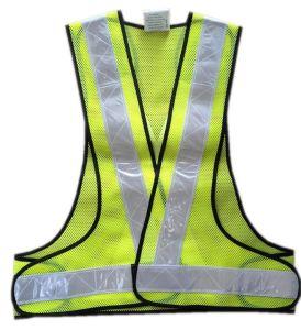 Tissu à mailles Gilet de sécurité réfléchissant avec ruban en PVC