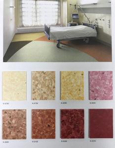 Antiderrapantes Vinil PVC anti-bacteriano piso homogénea para o Hospital
