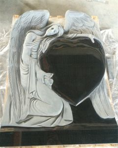 Shanxi-schwarzer Granit-Kreuz-Finanzanzeige-Grabstein-Grundstein