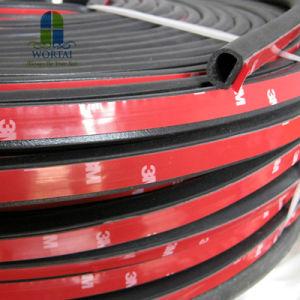Tira de sellado de puertas de coches automoción carretilla tipo D de la junta de caucho EPDM de sellado de las tiras Waterproof Trim lamelunas insonorizadas