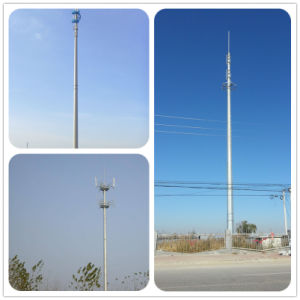 Galvanizado en caliente de la torre monopolo de Telecomunicaciones Móviles